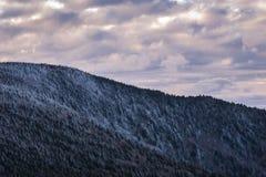 软羊皮的山冬天高涨13 图库摄影
