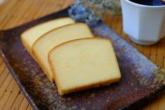 软自创简单的黄油的蛋糕 库存照片