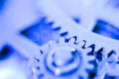 软蓝色的齿轮 免版税库存图片