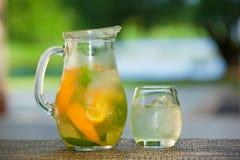 软饮料和果子 免版税库存照片