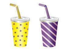 软饮料杯传染媒介例证 免版税库存图片