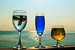 软饮料的杯 库存图片