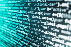 软件开发商工作区屏幕 免版税库存照片