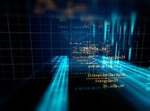 软件开发商编程的代码抽象技术背景  免版税图库摄影