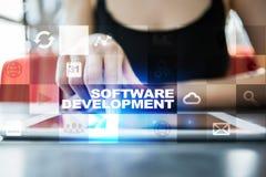 软件开发 对事务的申请阿普斯 编程 库存照片