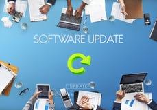 软件更新网站网页网络概念 免版税库存图片