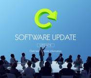 软件更新节目数字式改善概念 免版税图库摄影
