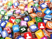 软件 智能手机或手机app象 免版税库存图片