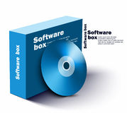 软件箱子 免版税图库摄影