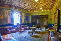 轰击Manial宫殿,开罗,埃及沙龙  库存照片