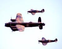 轰炸机战斗机巡逻 免版税库存照片