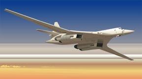 轰炸机有战略意义的向量 向量例证