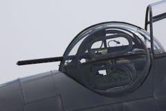 轰炸机枪设备坑wwii 免版税库存照片
