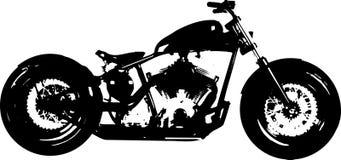 轰炸机砍刀摩托车剪影 免版税图库摄影