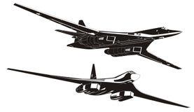 轰炸机设置了有战略意义的向量 向量例证