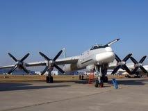 轰炸机Tu95 免版税库存照片