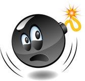 轰炸炸弹动画片系列 免版税库存照片