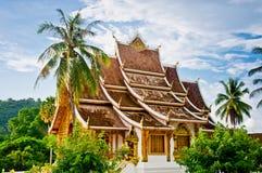 轰隆山楂老挝pha寺庙 免版税库存图片