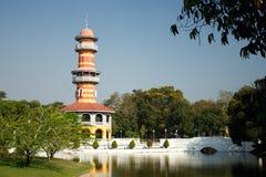 轰隆曼谷pa宫殿 皇家,历史 库存图片