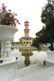 轰隆曼谷pa宫殿 免版税库存照片