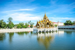 轰隆痛苦在皇家颐和园的Aisawan Thipya艺术 库存图片