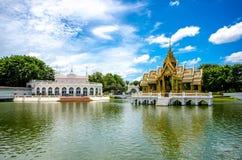 轰隆痛苦在皇家颐和园的Aisawan Thipya艺术 免版税库存图片