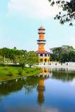 轰隆痛苦宫殿在大城府,泰国 免版税库存图片