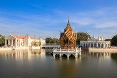 轰隆痛苦宫殿在阿尤特拉利夫雷斯,泰国 库存图片