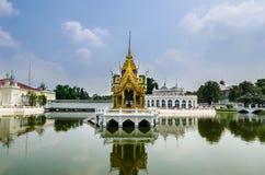 轰隆痛苦宫殿在阿尤特拉利夫雷斯,泰国 图库摄影