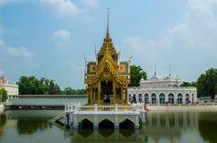 轰隆痛苦宫殿在阿尤特拉利夫雷斯,泰国 免版税库存照片