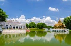 轰隆痛苦宫殿, Ayuthaya,泰国 免版税库存图片