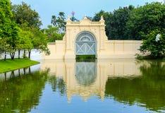 轰隆痛苦王宫在阿尤特拉利夫雷斯,泰国 免版税库存照片