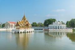 轰隆痛苦王宫,阿尤特拉利夫雷斯,泰国 免版税库存照片