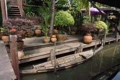 轰隆Nam Peung浮动市场,曼谷,泰国 免版税图库摄影