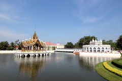 轰隆Pa在王宫,阿尤特拉利夫雷斯,泰国 免版税库存照片