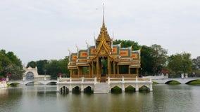 轰隆pa在Ayudthaya的宫殿 库存图片