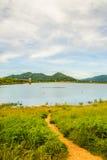 轰隆Phra水库, Chon Buri,泰国 古老吸引力曼谷宫殿游人 图库摄影
