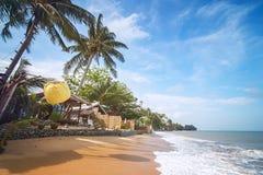 轰隆Po海滩,酸值苏梅岛,泰国 免版税图库摄影