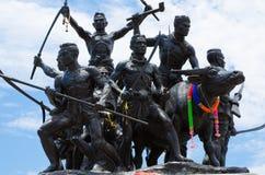 轰隆Rachan英雄的纪念碑 免版税库存照片