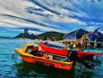 轰隆SaenÂ是aÂ沿东部墨西哥湾海岸ofÂ泰国的beachÂ镇 库存照片