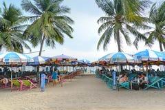 轰隆Saen海滩,春武里市,泰国 免版税图库摄影
