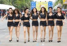 轰隆Saen速度节日,泰国2014年 库存图片