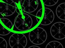 轴承南指南针的大局 免版税库存照片