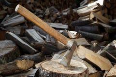 轴树桩很好使用了 免版税库存图片