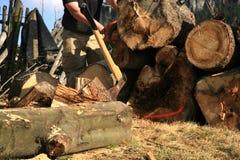 轴设备伐木工人 免版税库存照片