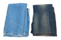 轻和黑暗的牛仔裤 库存照片