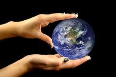 轻微涉及的地球 免版税库存照片