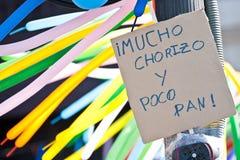 轻快优雅海报革命西班牙语 免版税库存图片