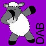 轻拍轻打的姿势绵羊孩子动画片 向量例证