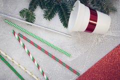 轻混凝土圣诞节背景 库存照片